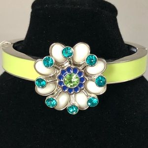NWT Lia Sophia Crystal Flower Stretch Bangle